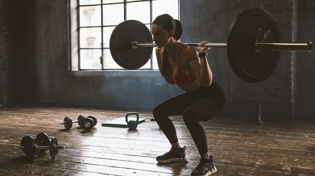 deep squats with barbell